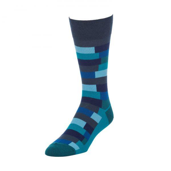 Blue and Green Socks for Men