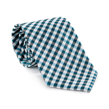 Blue Checkers Necktie - Patyrns