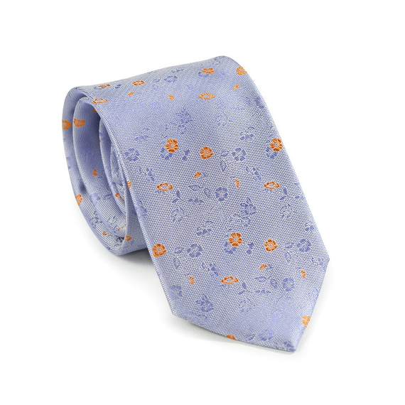 Purple Floral Necktie - Patyrns