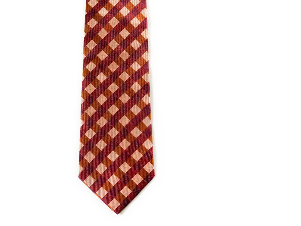 Red Plaid Necktie - Front