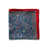 Navy/Red Paisley