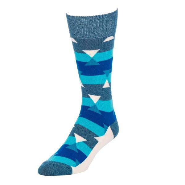 Stripes and Triangles - Socks for men