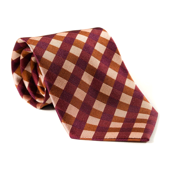 Red Plaid Necktie - Patyrns