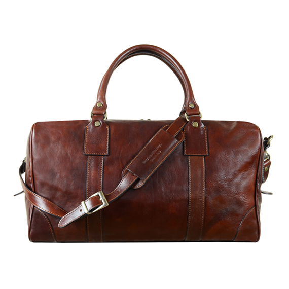 Brown Leather Overnight Bag