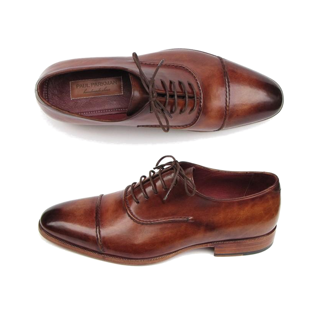Men's Captoe Oxfords Brown Shoes