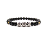 Silver, Gold and Black Bracelet for Men