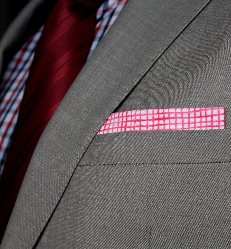 Pink Pocket Square - Straight