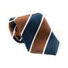Navy and Brown Striped Tie