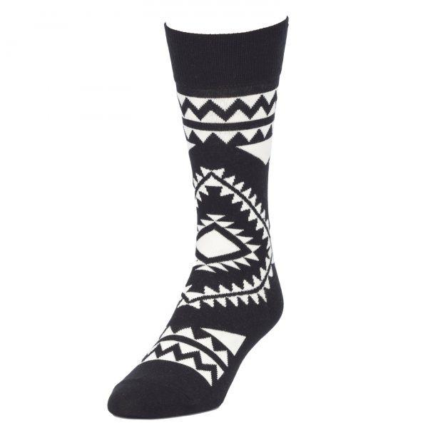Black & White Tapestry Socks for Men