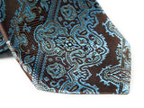 Blue Paisley Necktie - Close