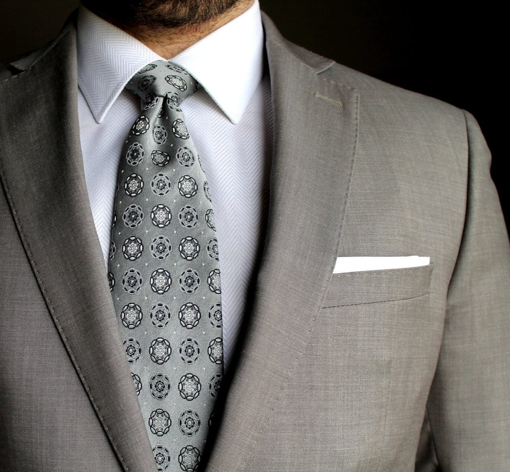 White Pocket Square - Suit