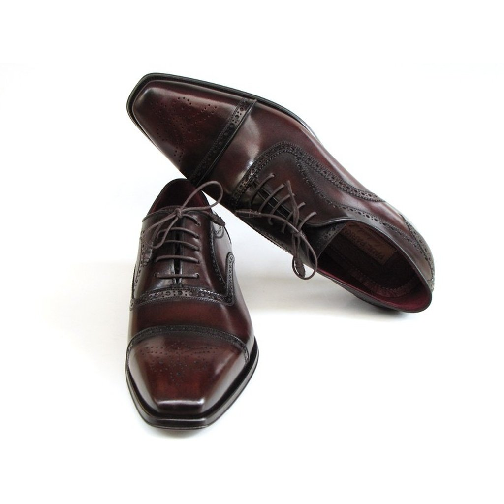 Men's Captoe Oxfords Bordeaux & Brown