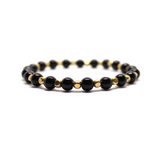 Black & Gold Beaded Bracelet - Patyrns