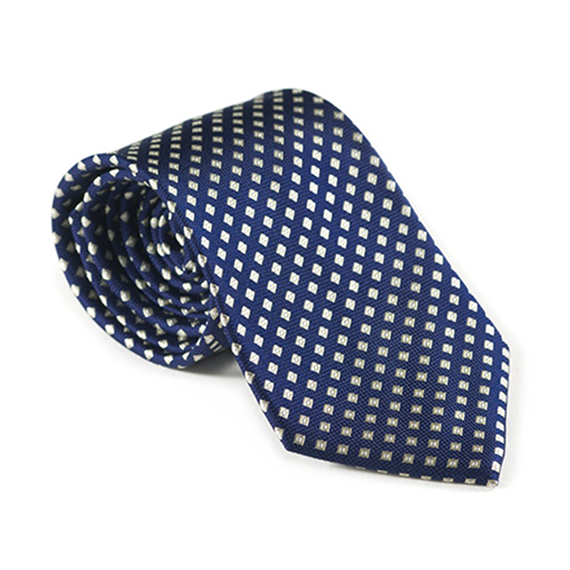 Navy Diamond Patterned Tie