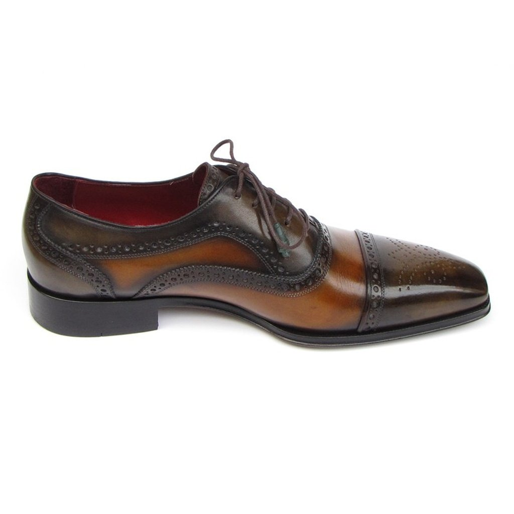 Men's Captoe Oxfords Camel & Olive Shoes