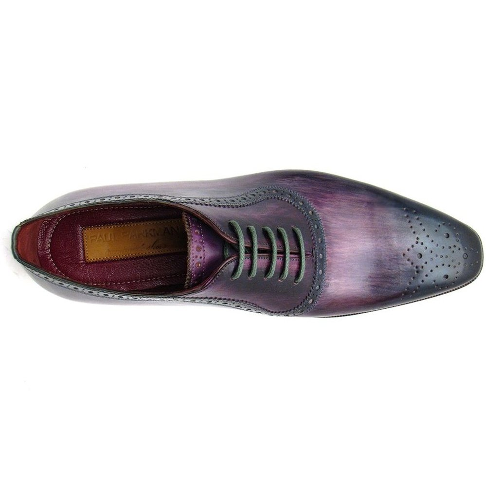 Men's Purple & Navy Medallion Toe Oxfords