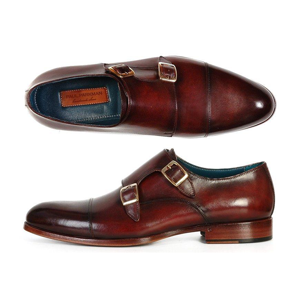 Men's Cap-Toe Double Monkstraps Dark Brown