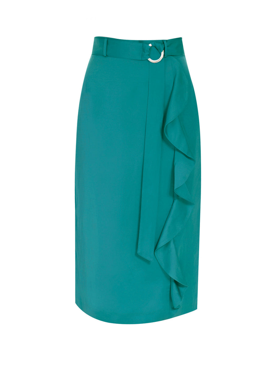 Wave Skirt Sea Green
