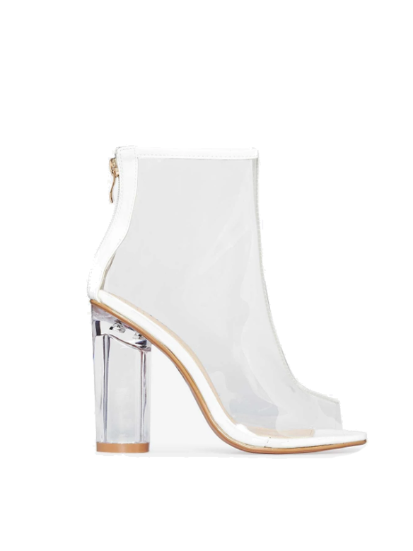 Peep Toe Boot White