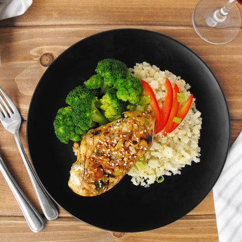 Clean and Green: Ginger Chicken with Broccoli and Tamari Cauliflower Rice