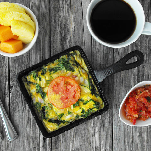 Paleo Fritatta with Homemade Salsa and Fruit