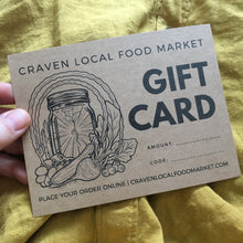 Load image into Gallery viewer, Craven Local Food Market Gift Card