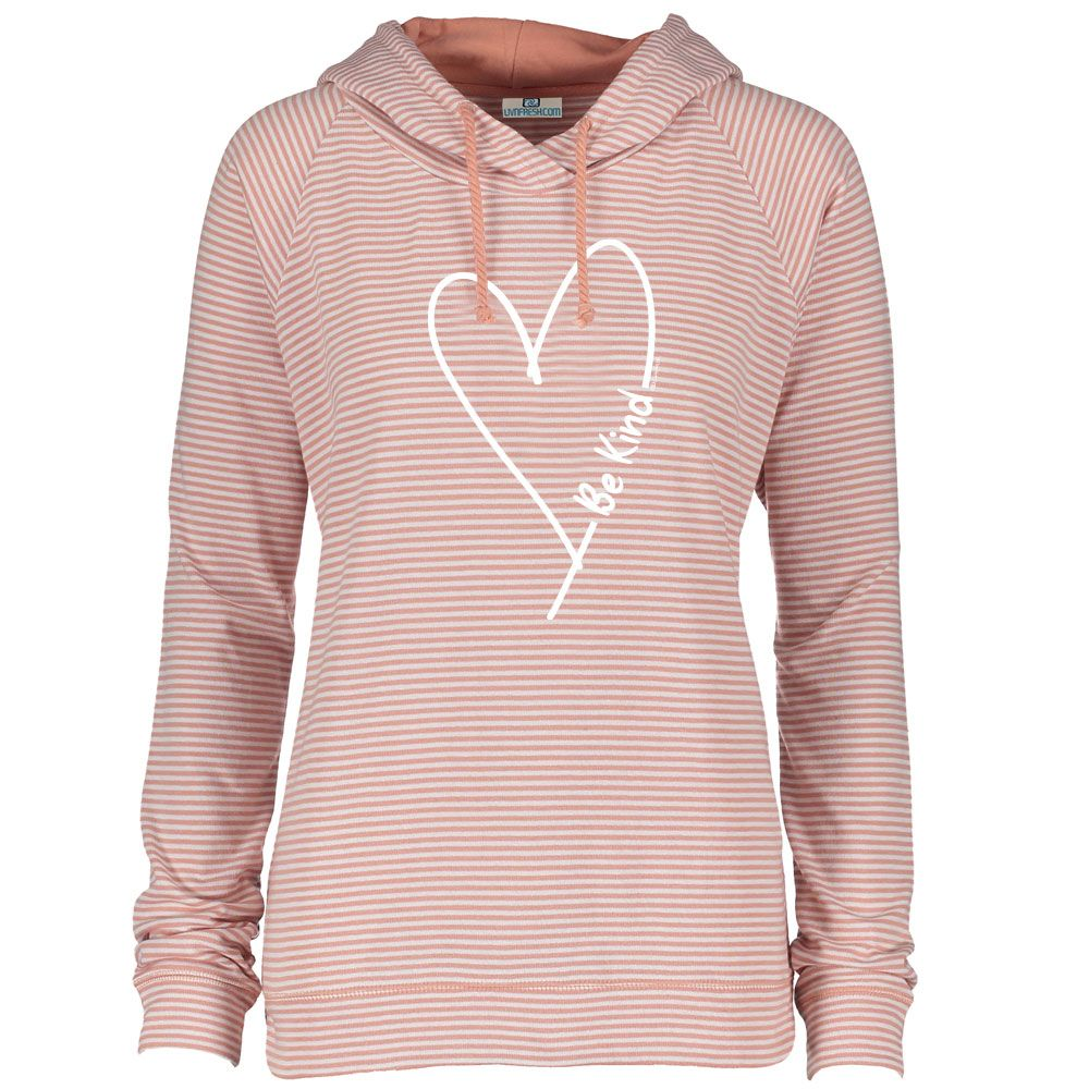 """Be Kind With Love"" Women's Striped Long Sleeve Fashion Hoodie"
