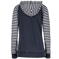 """Michigan Lake Life"" Women's Striped Chalk Terry Pullover"