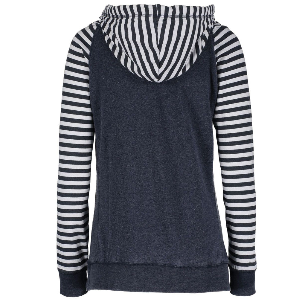"""Midwest Girl"" Women's Striped Chalk Terry Pullover"