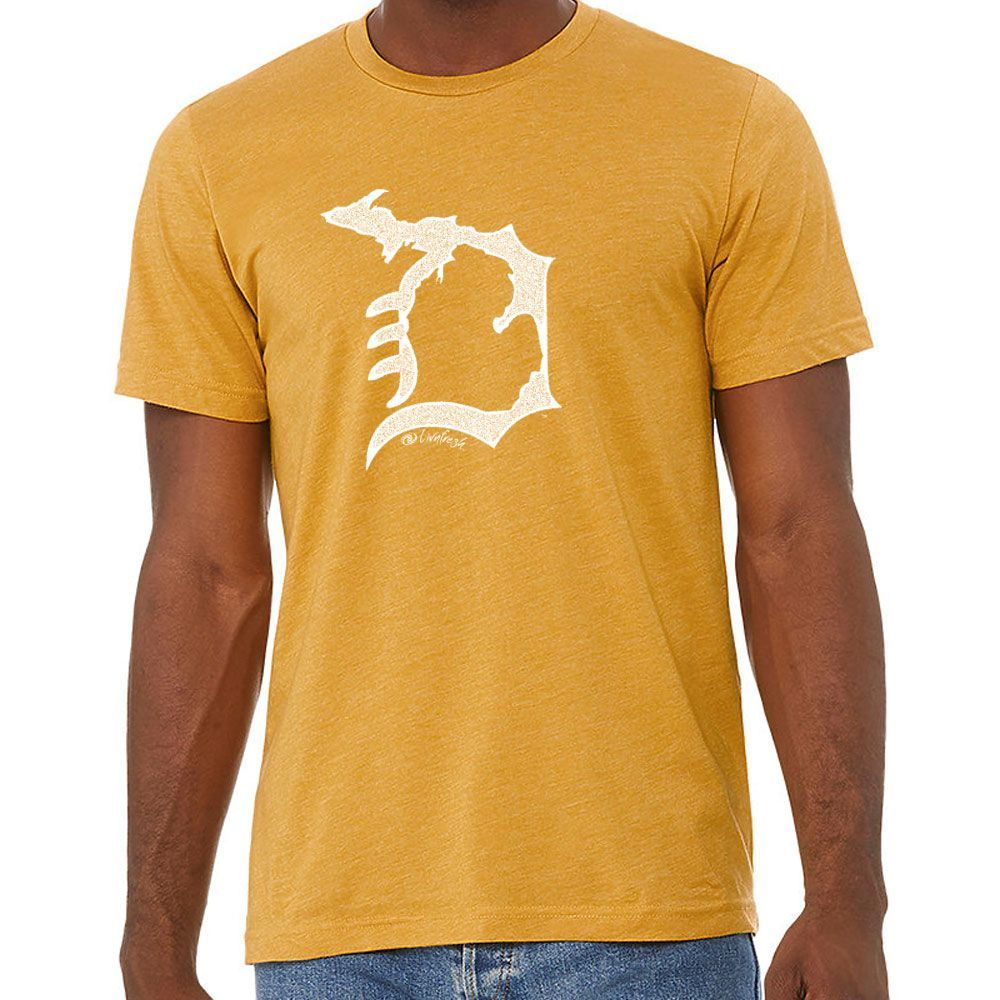 """Michigan D"" Men's Crew T-Shirt"