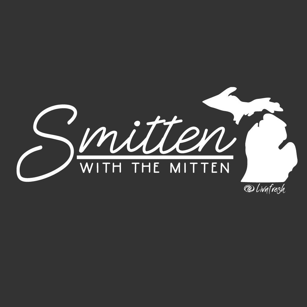 """Smitten With The Mitten"" Women's Striped Long Sleeve Fashion Hoodie"