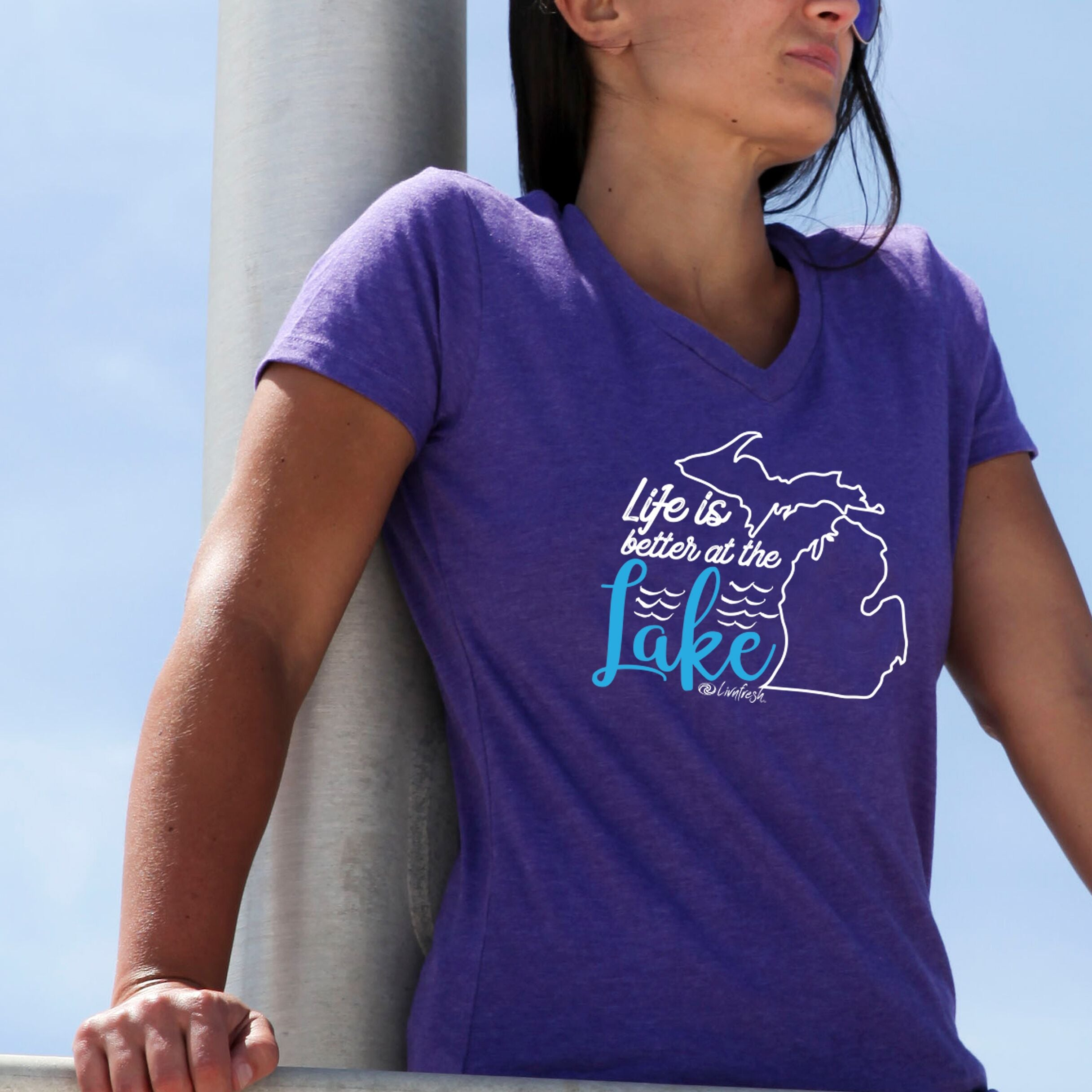 Michigan Life Is Better At The Lake Women's V-Neck
