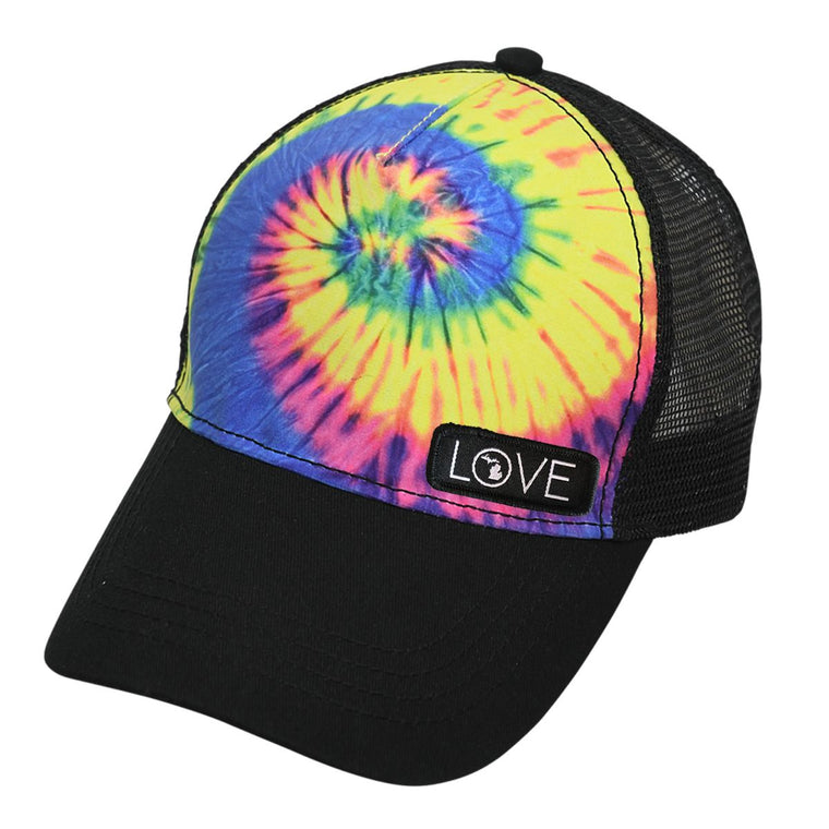 """Michigan Love"" Tie Dye Trucker Hat"