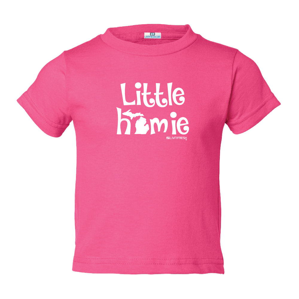 Michigan Little Homie Toddler T-Shirts