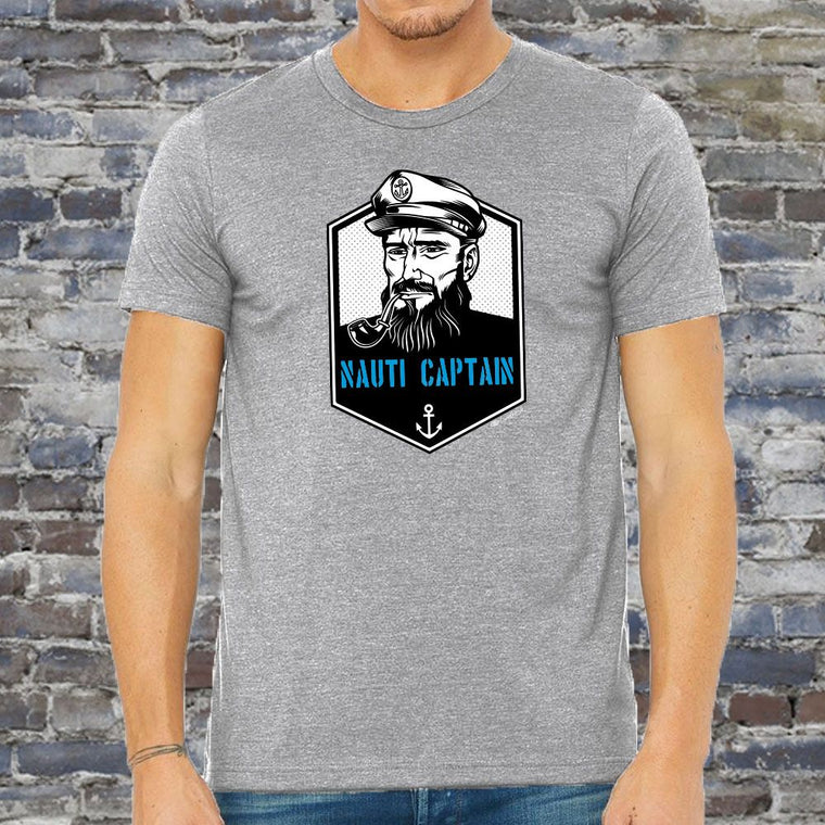 """Nauti Captain"" Men's Crew T-Shirt"