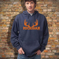 """Michigan Antler"" Men's Hoodie"