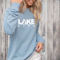 """Michigan Lake Life"" Women's Ultra Soft Wave Wash Crew Sweatshirt"