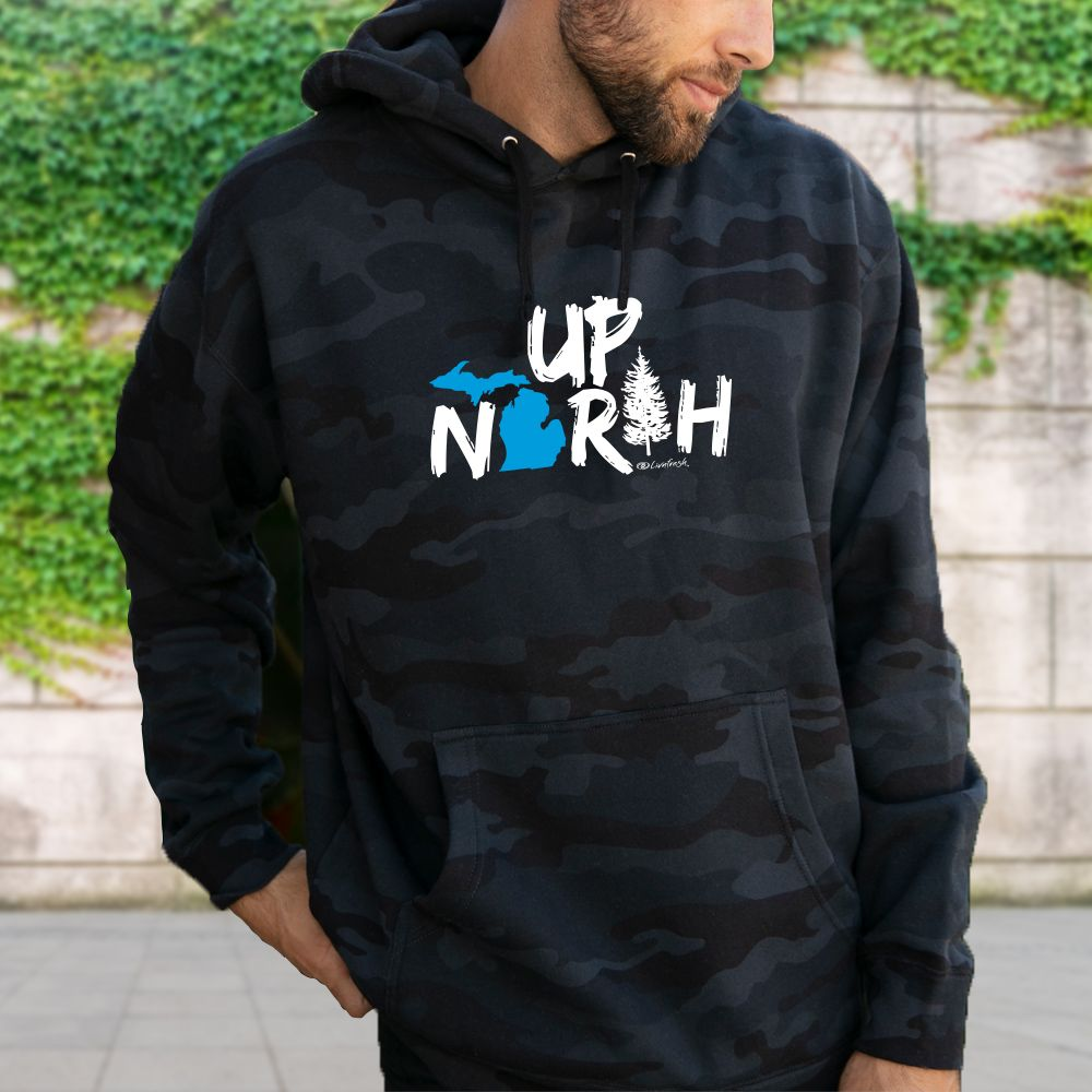 """Up North Michigan Woods"" Men's Hoodie"