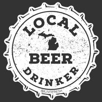 """Michigan Drink Local"" Women's V-Neck"