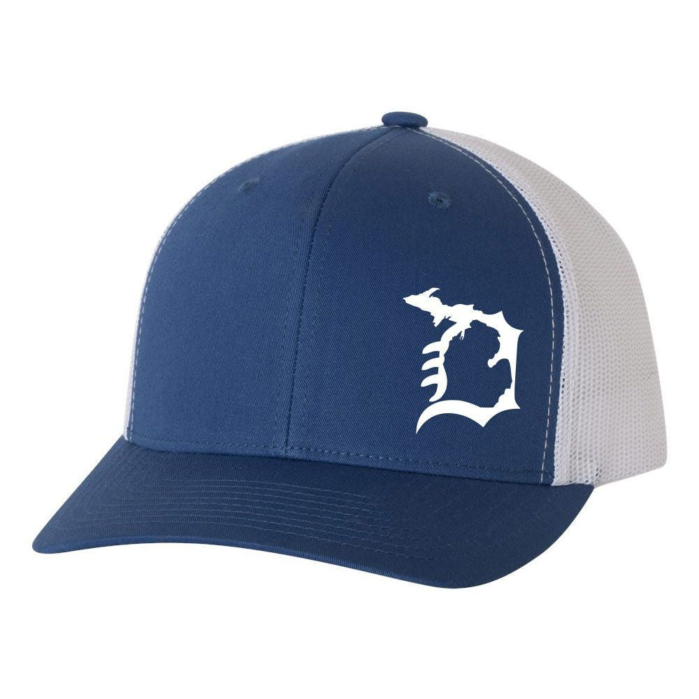 """Michigan D""  Retro Trucker Hat"