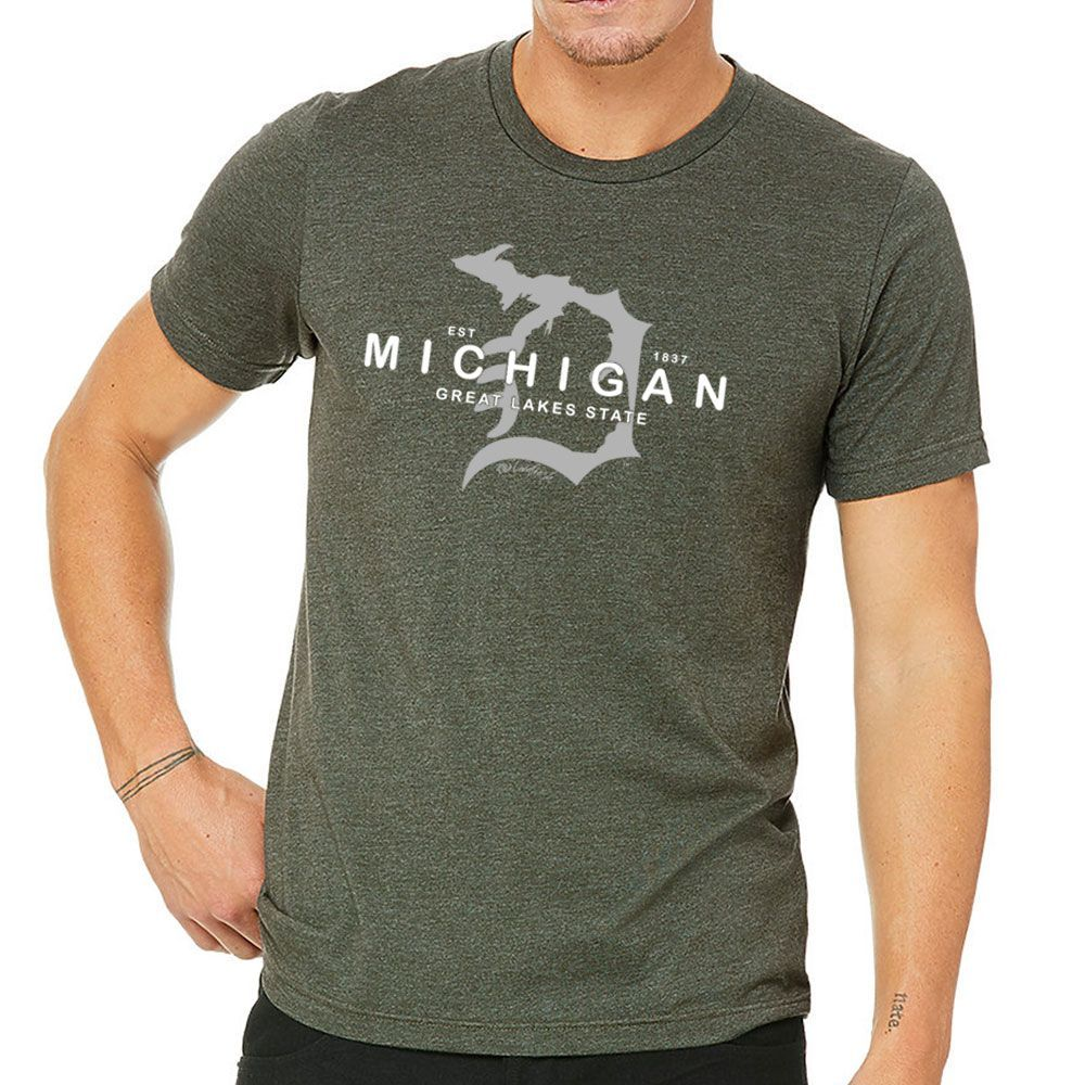 """Michigan D Established 1837"" Men's Crew T-Shirt"