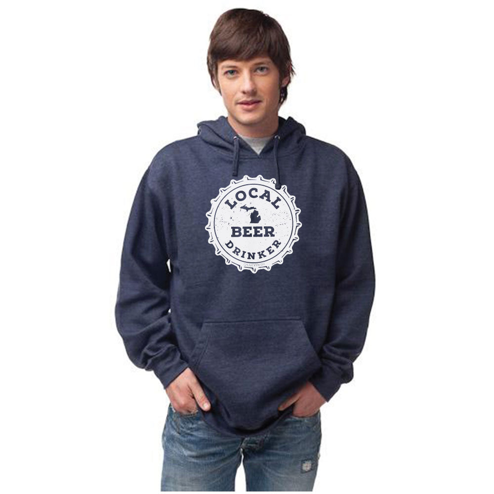 Michigan Drink Local  Men's Basic Hoodie