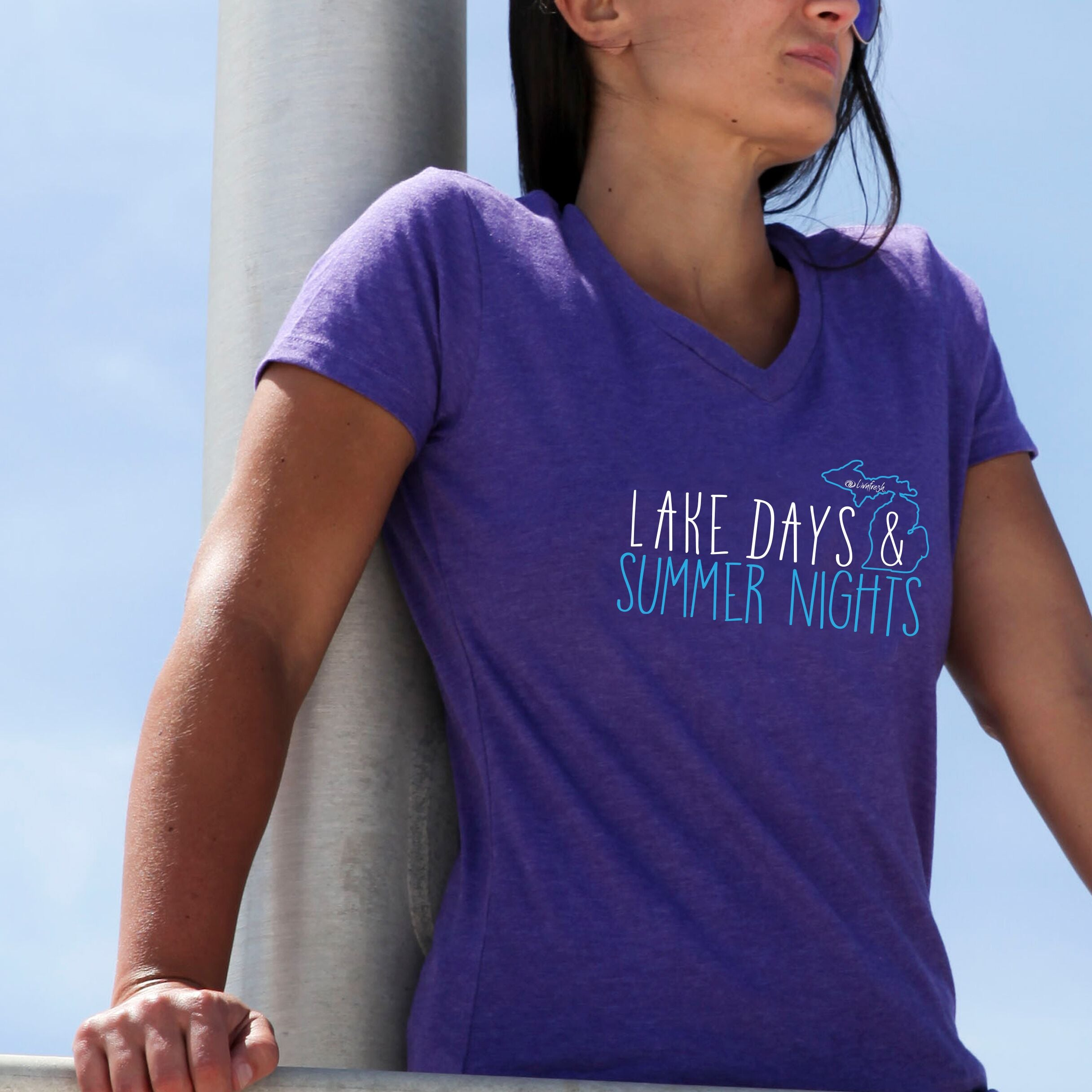 Michigan Lake Days And Summer Nights Women's V-Neck