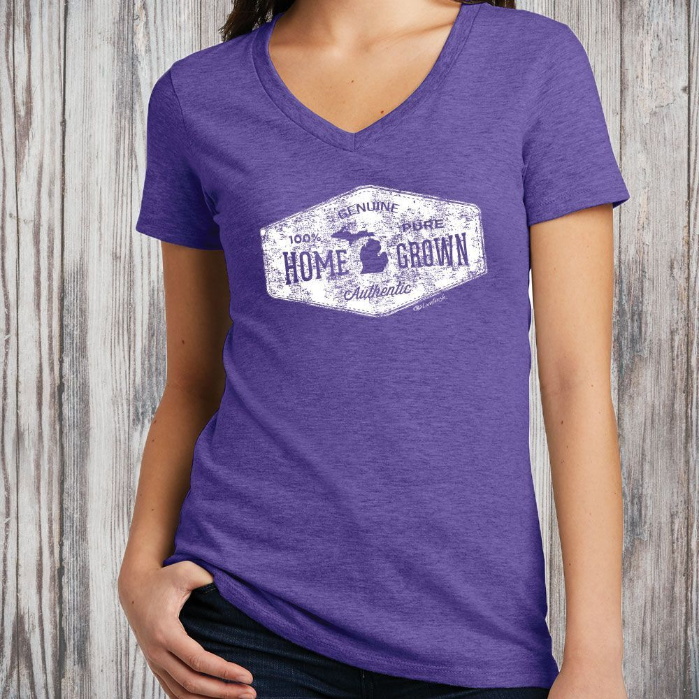 """Michigan Home Grown"" Women's V-Neck"