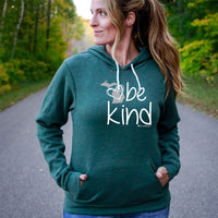 """Michigan Be Kind"" Boyfriend Angel Fleece Hoodie"