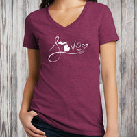 """Michigan Love #9"" Women's V-Neck"