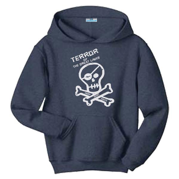 Fresh Coast Pirate Navy Hooded Sweatshirt