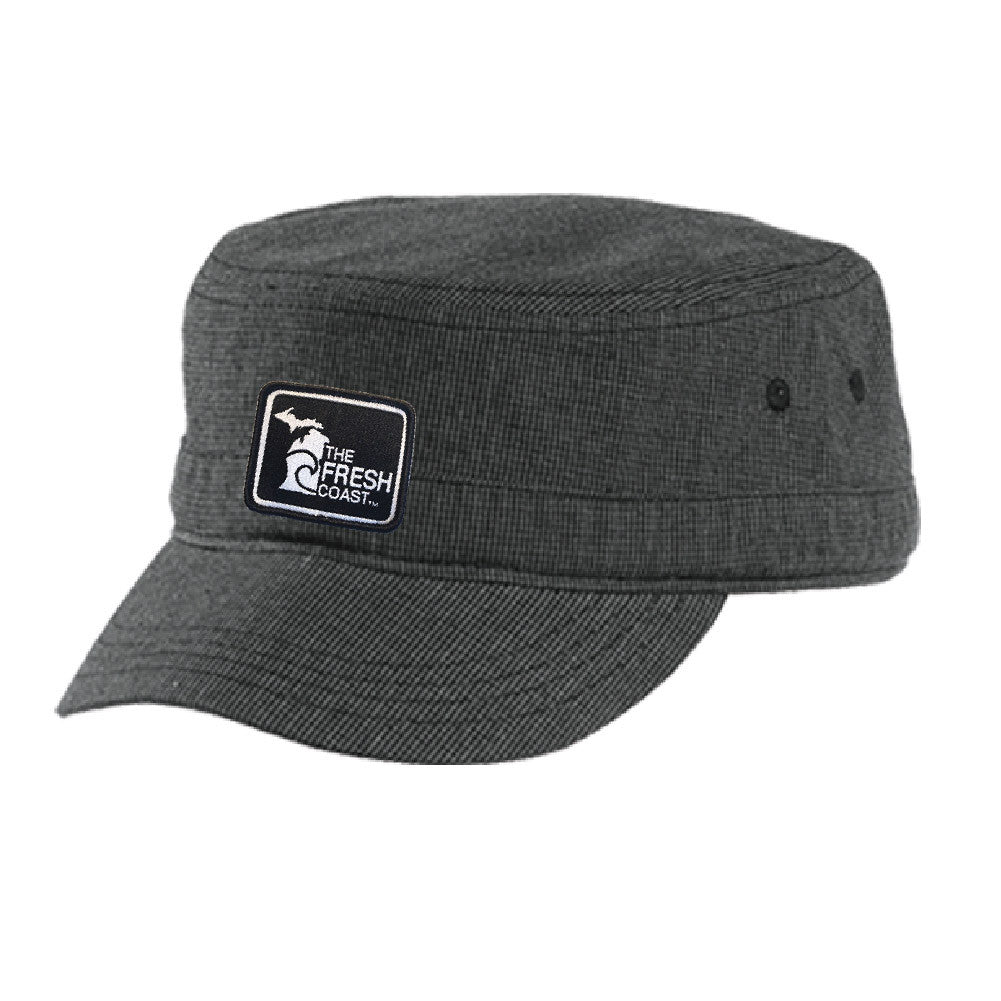 Michigan Fresh Coast Houndstooth Hat ( Velcro Back)