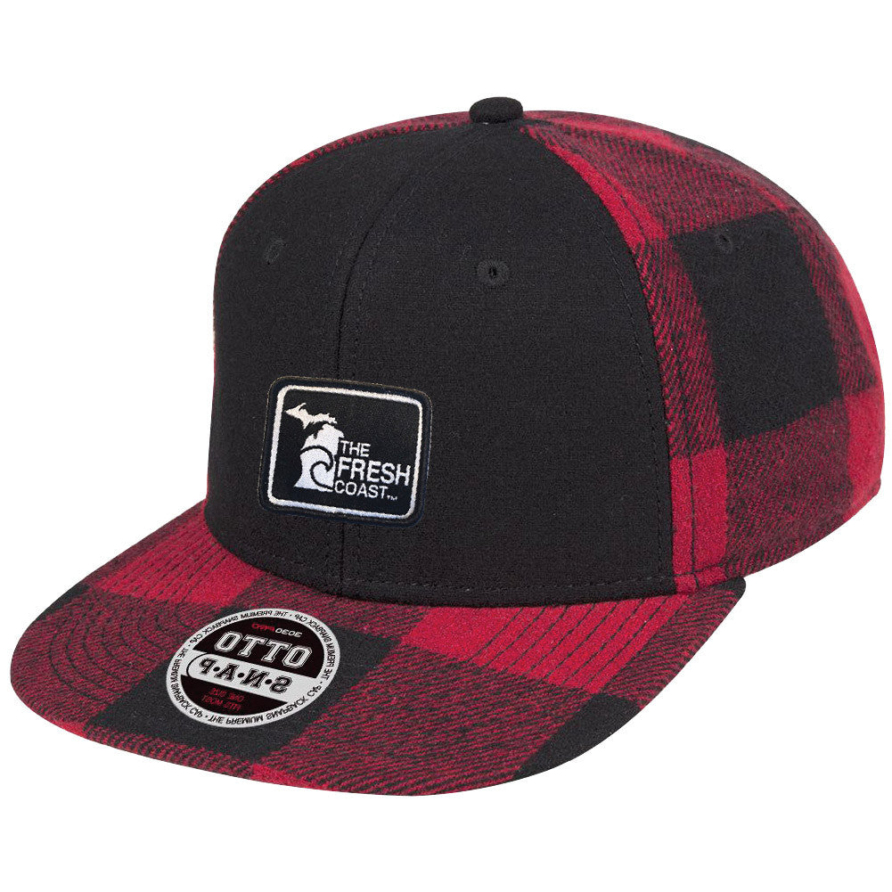 Michigan Fresh Coast  Plaid Flat Bill Hat