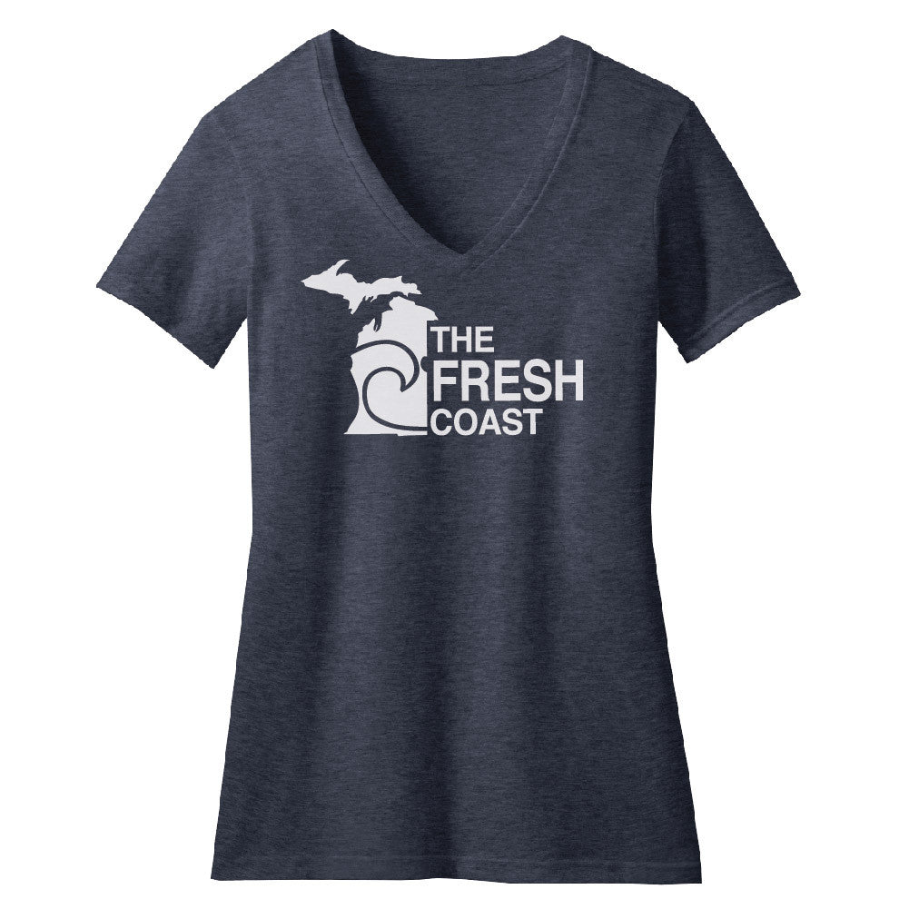 Michigan Fresh Coast Womens V-Neck
